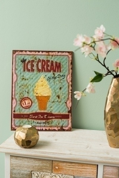 Holzschild Ice Cream II